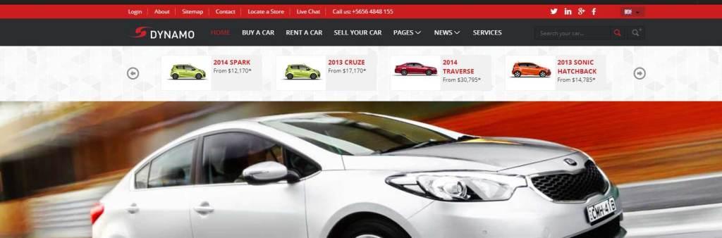 best Web Design Company car website
